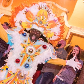 Wall Street Plaza: Pre-Pardi Gras Blocl Party