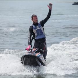 Beach: Typhoon Tommy Jet Ski Show