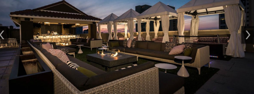 The canopy rooftop lounge bar restaurant st