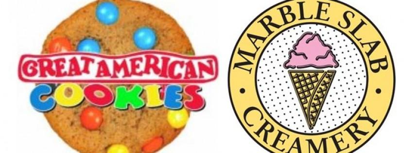 Great American Cookies and Marble Slab Creamery