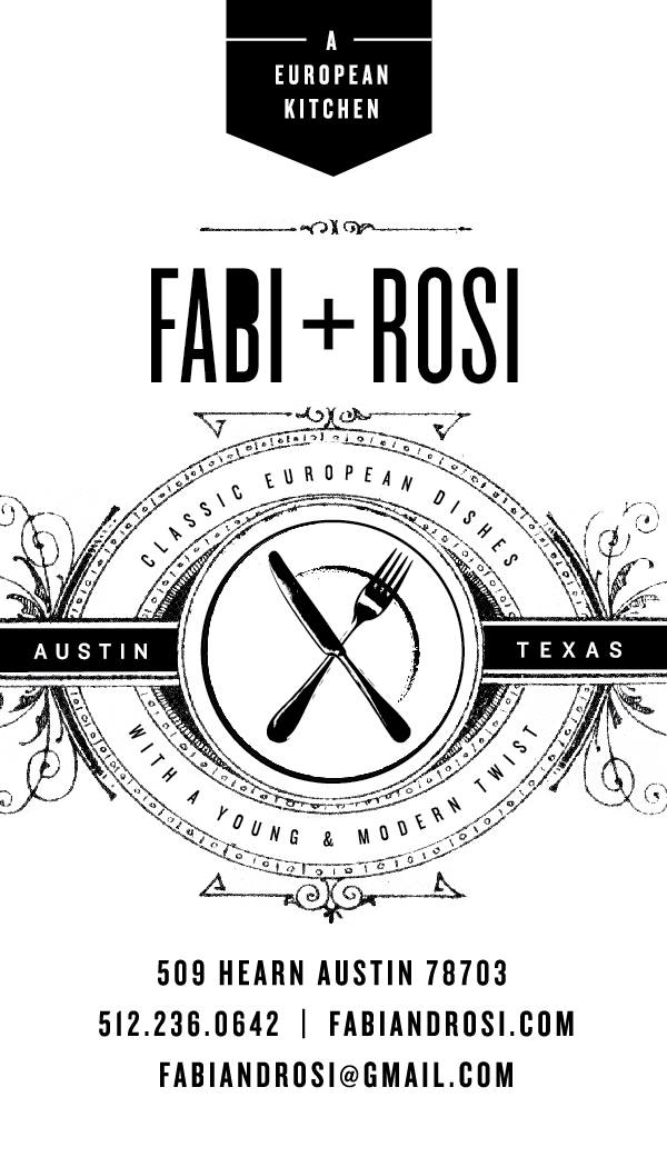 Fabi And Rosi Restaurant Austin Austin