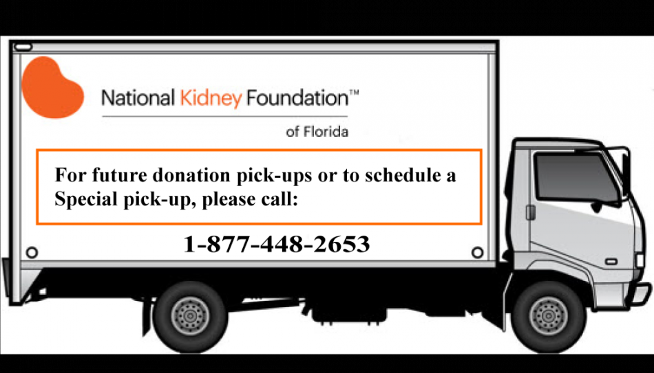 National Kidney Foundation Truck Pickup Service Community Government North Tampa Tampa