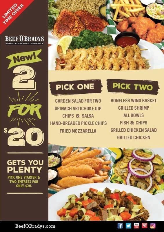 Beef 'O' Brady's | Palm Harbor