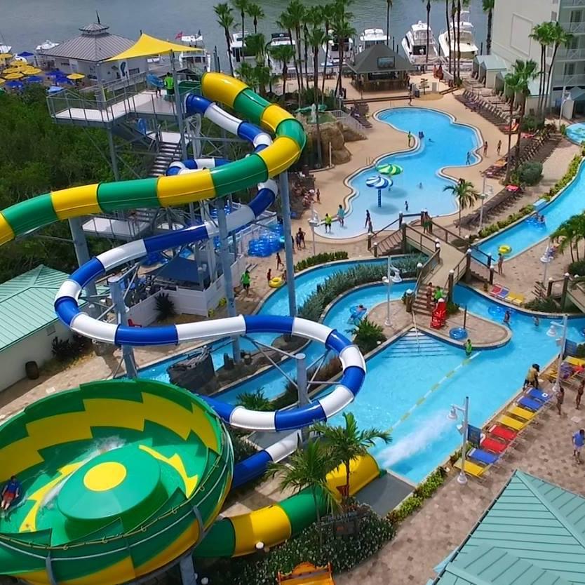 Inflatable Slide Clearwater Beach: Splash Harbour Water Park