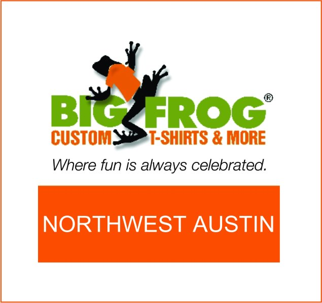 Big frog custom t shirts more northwest austin for Custom t shirts austin texas
