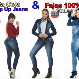 Jeans Levanta Cola y Fajas 100% Colombianas