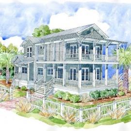 Whitney Blair Custom Homes Southern Living Inspired Home: Bald Head Island