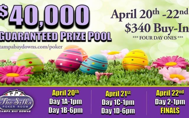 $40,000 Guaranteed Tournament at Silks Poker Room