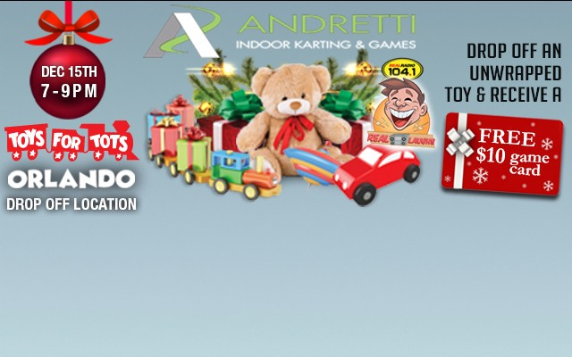 Drop Off Toys For Tots at Andretti Indoor Karting & Games