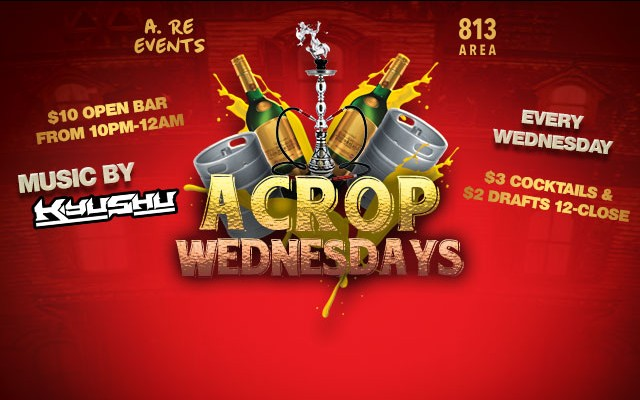 Best Happy Hour in North Tampa: Acropolis Wednesday Happy Hour!