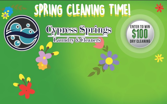 Cypress Springs Laundry & Cleaners | Spring Cleaning Contest!