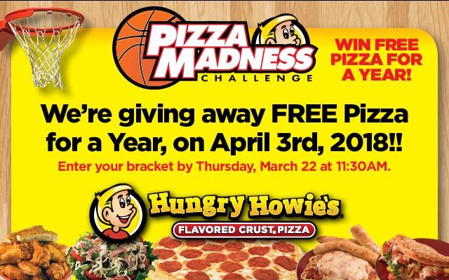 PIZZA MADNESS SWEET 16 BRACKET CHALLENGE