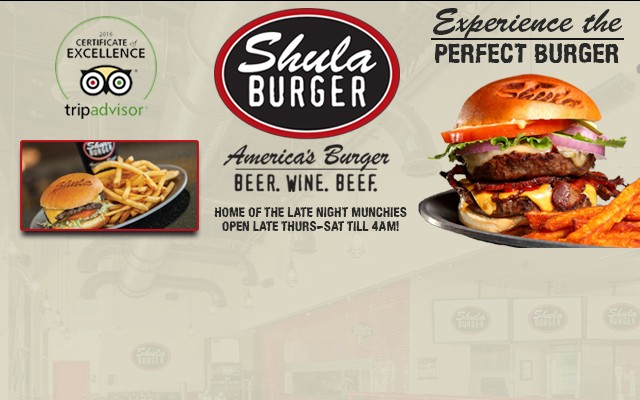 $5 Perfect Burger Wednesdays at Shula Burger