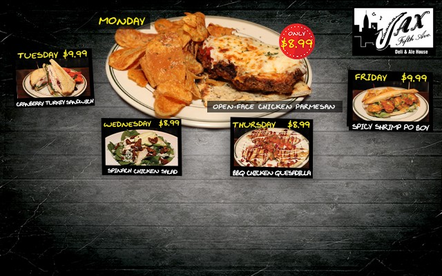 Liven Up Your Lunch Break With Jax 5th Avenue Lake Mary September Lunch Specials