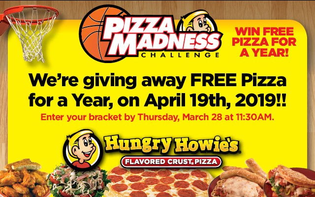 Win a Year of FREE Pizza from Hungry Howie's!