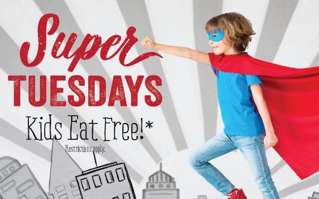 Kids Eat Free Super Tuesdays at Shula Burger