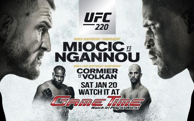 UFC 220 Miocic vs Ngannou at GameTime Tampa