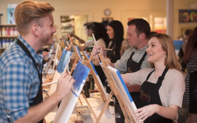 Channel Your Inner Van Gogh While Drinking Merlot at Painting with a Twist!