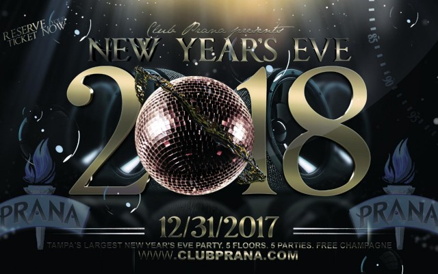 New Years Eve 2018 at Club Prana