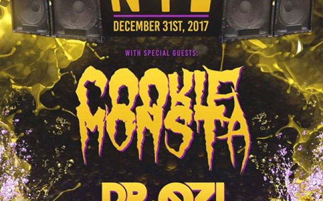 BASS DROP NYE ft Cookie Monsta, Dr Ozi, & XaeboR | 12.31.17