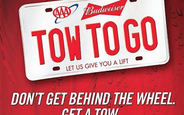 AAA & Budweiser FREE Tow To Go Gets You and Car Home Safe