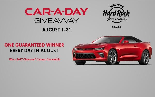 Car-A-Day Giveaway at Seminole Hard Rock