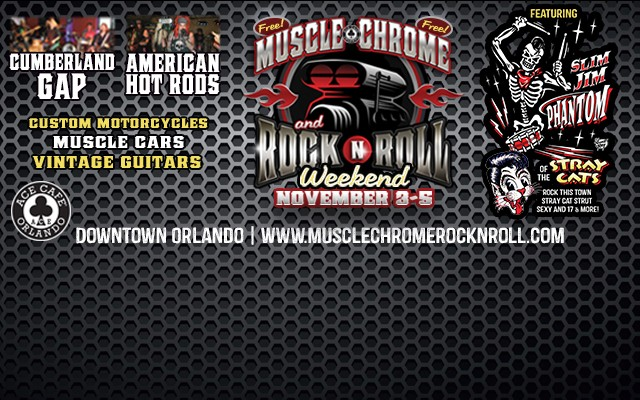 Muscle, Chrome & Rock-n-Roll 3- Day Weekend @ Ace Cafe Orlando