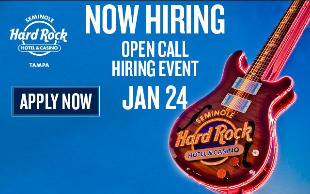 Open Call Hiring Event at Hard Rock