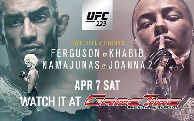 Watch UFC 223 at GameTime!