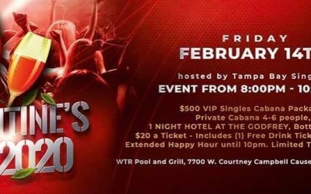 Tampa Bay Singles 'Sexy Party!' Valentine's Day 2020 | WTR Tampa