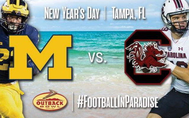 Michigan Wolverines Face The South Carolina Gamecocks In 2018 Outback Bowl on New Year's Day