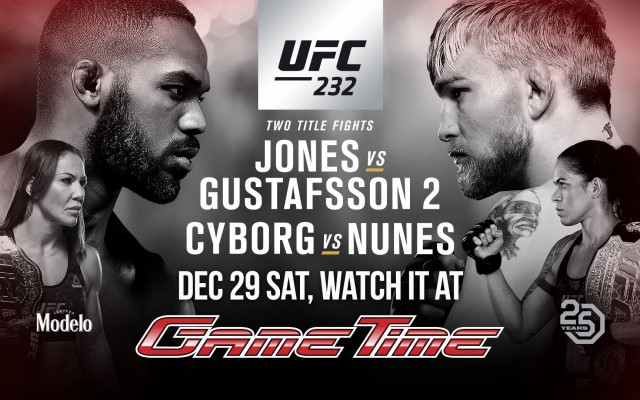 Watch UFC 232 at GameTime