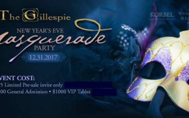 NYE 2018 Masquerade Party