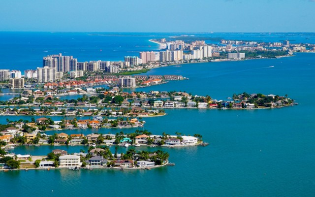 Vertical Flight Helicopter Tours Above the Sparkling Clearwater Beach Are Memorable and Breathtaking