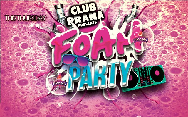 Foam Party at Club Prana