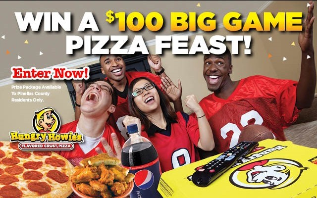 Win A $100 Big Game Pizza Feast from Hungry Howie's!