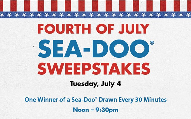 Fourth of July Sea-Doo Sweepstakes
