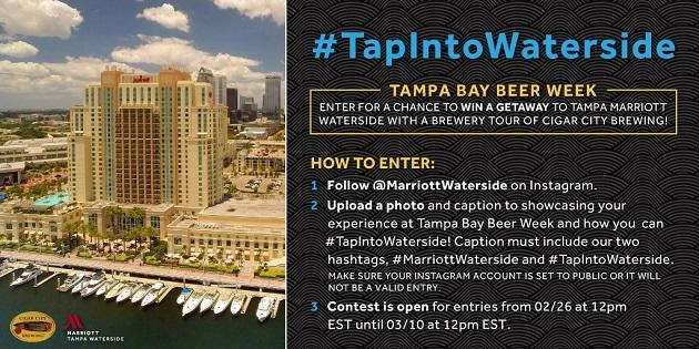 WIN BIG at Tampa Bay Beer Week with Waterside and Cigar City Brewing