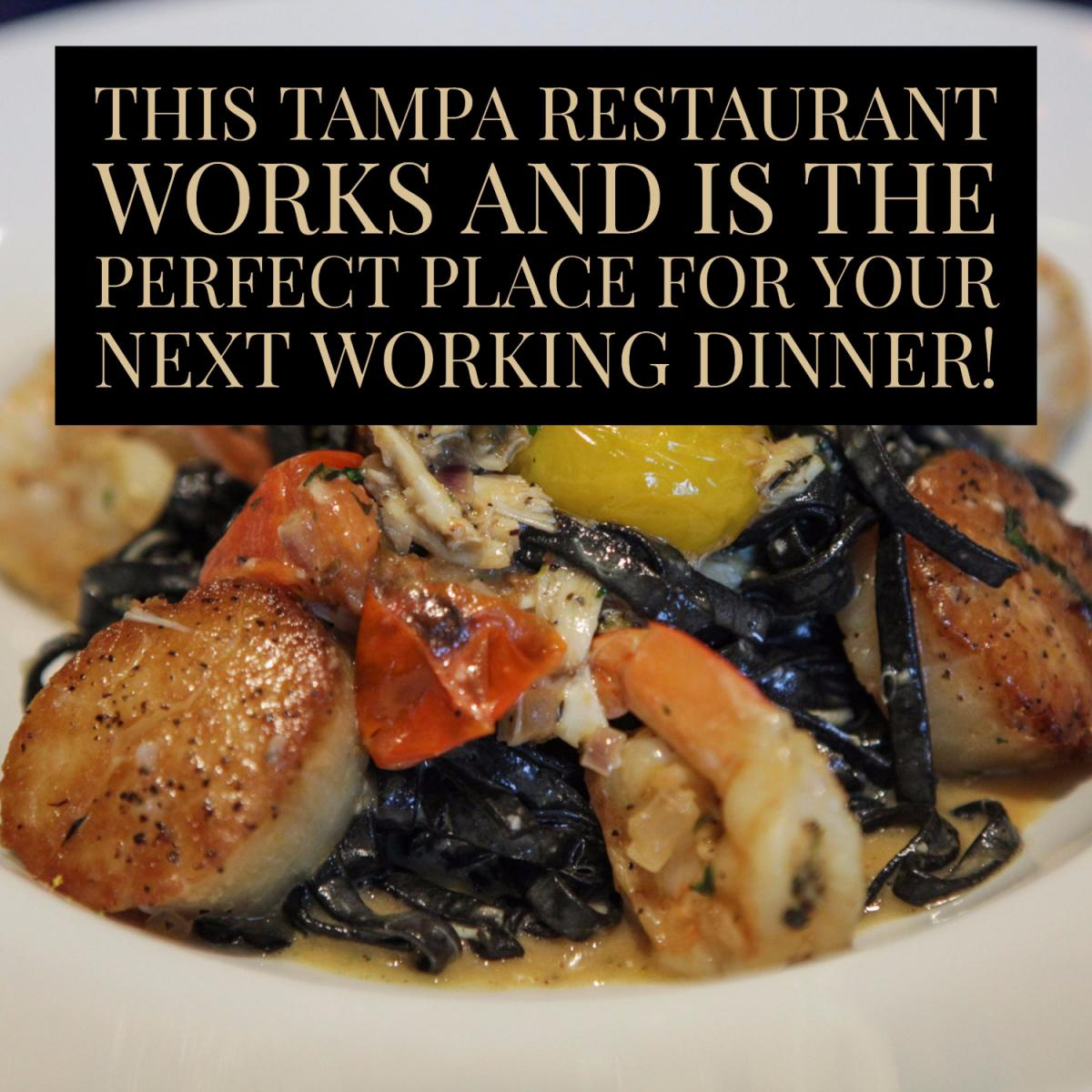This Tampa Restaurant Works for Working Dinners