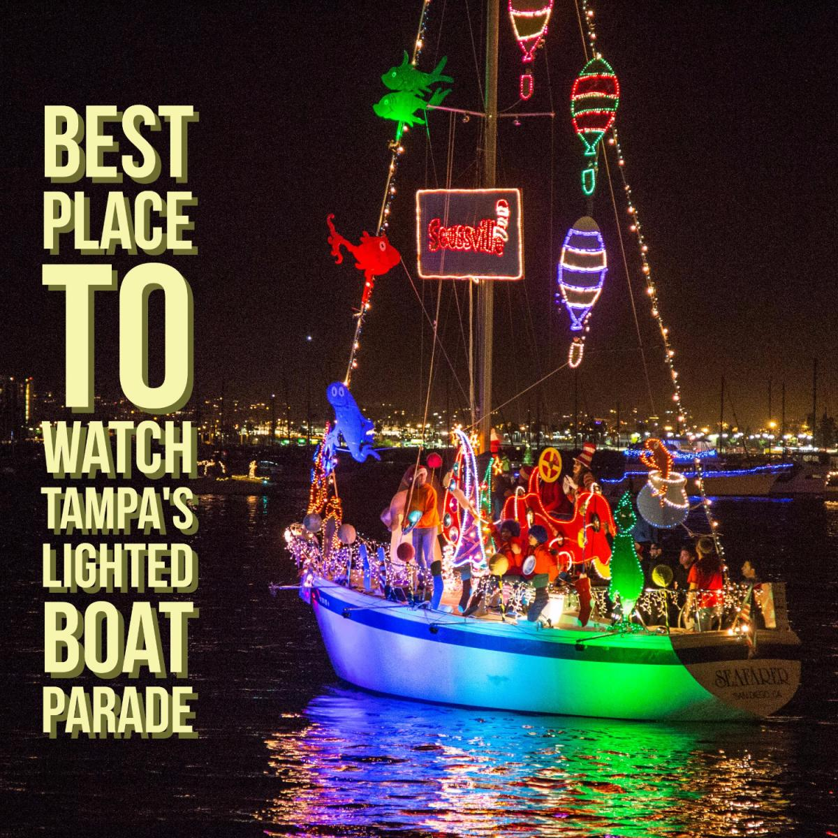 Best Place to Watch Tampa's Lighted Boat Parade