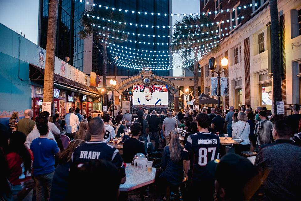 Catch the Super Bowl At The Super Block Party on Wall St Plaza