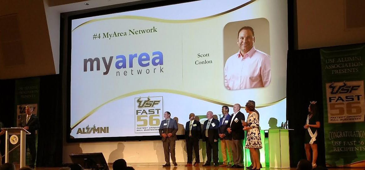 MyArea Network Honored as Top 5 in USF Fast 56 Award