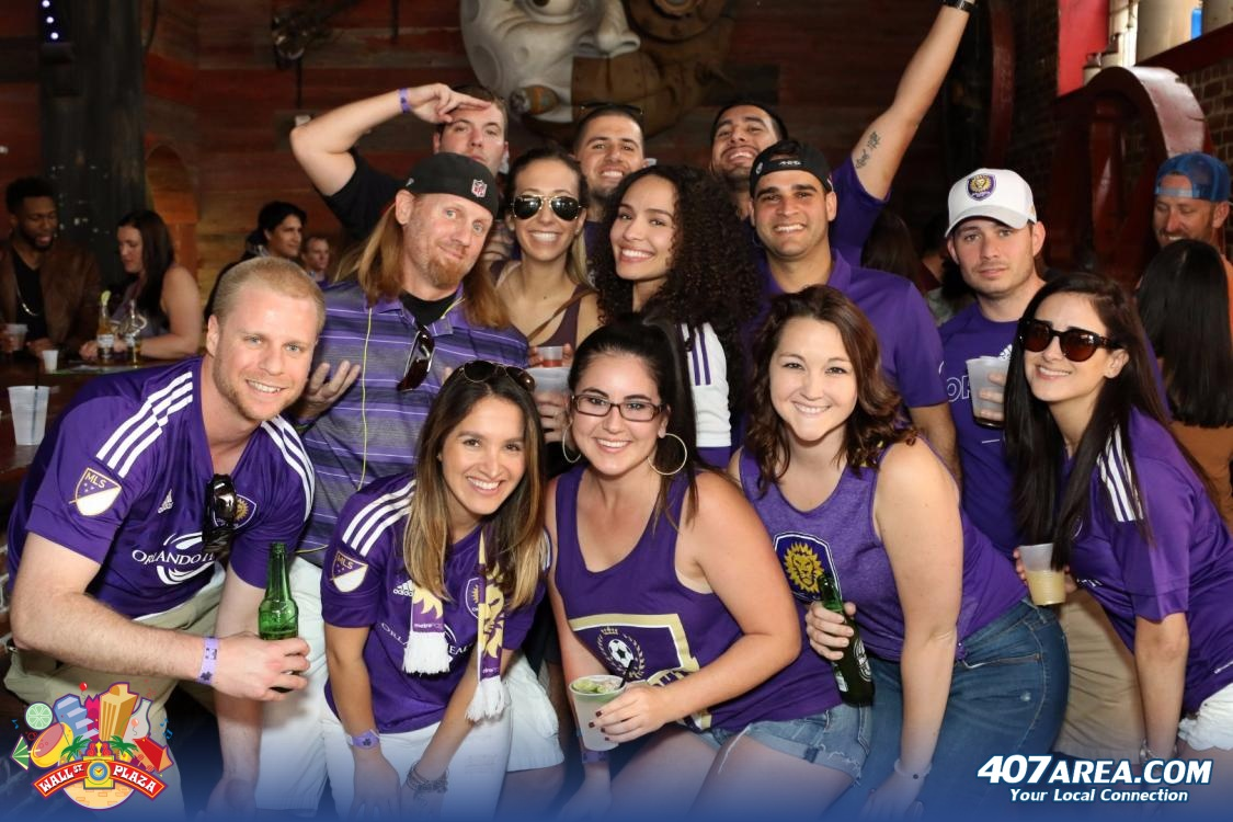 Show Off Your Purple Pride At The Official Orlando City SC Watch Party On Wall St. Plaza