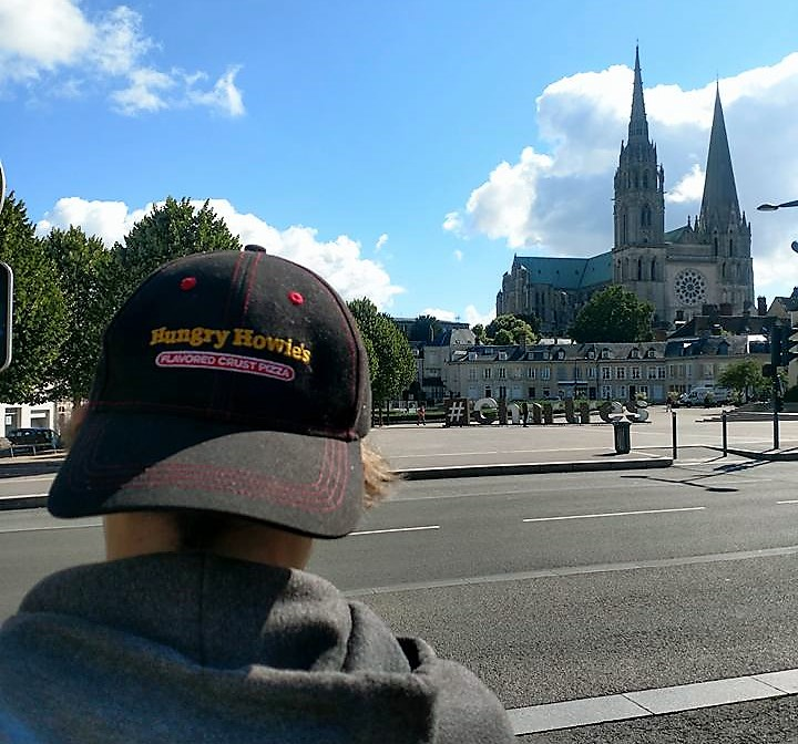 Where is Jacob? Local Hungry Howie's Employee Having Fun with a Hat in Paris and Venice