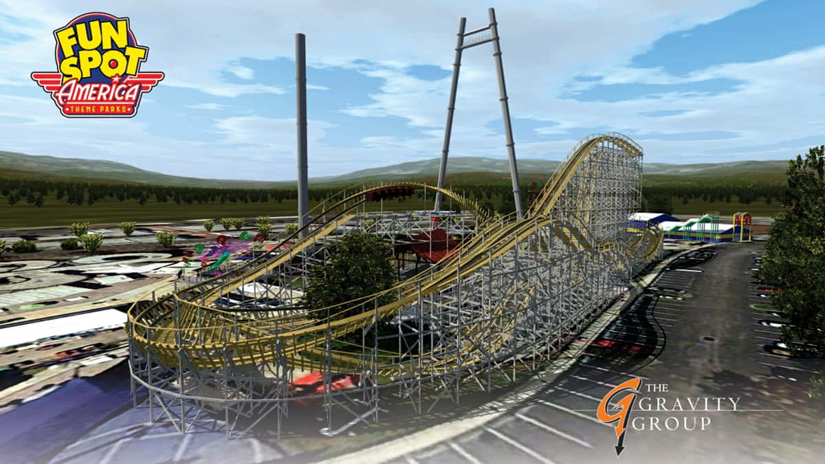 Take A Virtual Ride On The New Fun Spot Wooden Roller Coaster