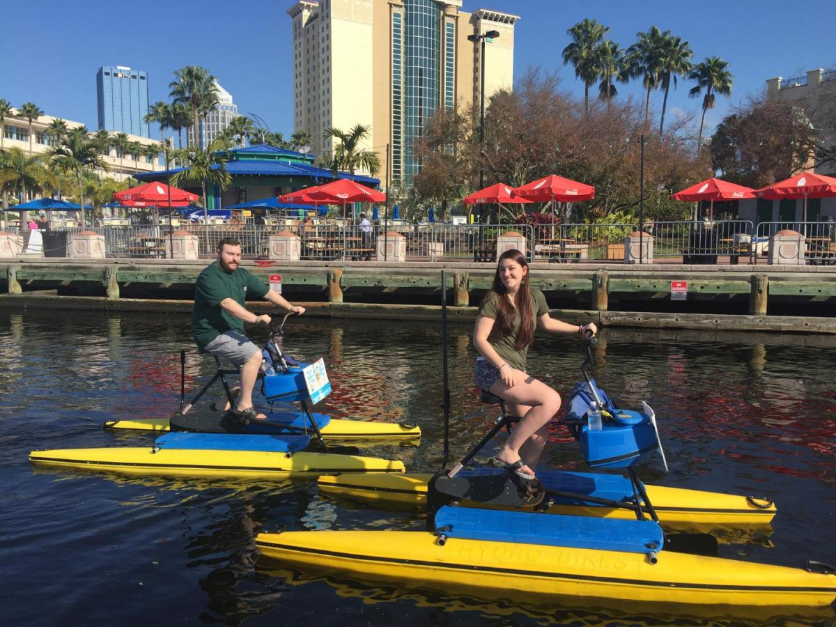 Romantic Water Bike Rides for Valentine's Day in Tampa