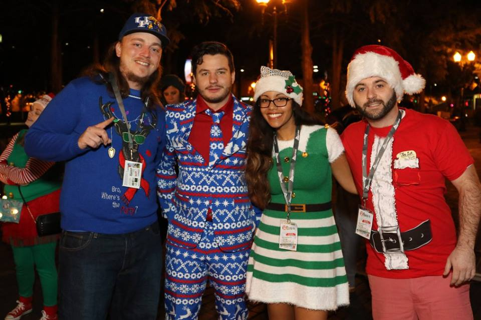guys with ties 12 bars of christmas pub crawl