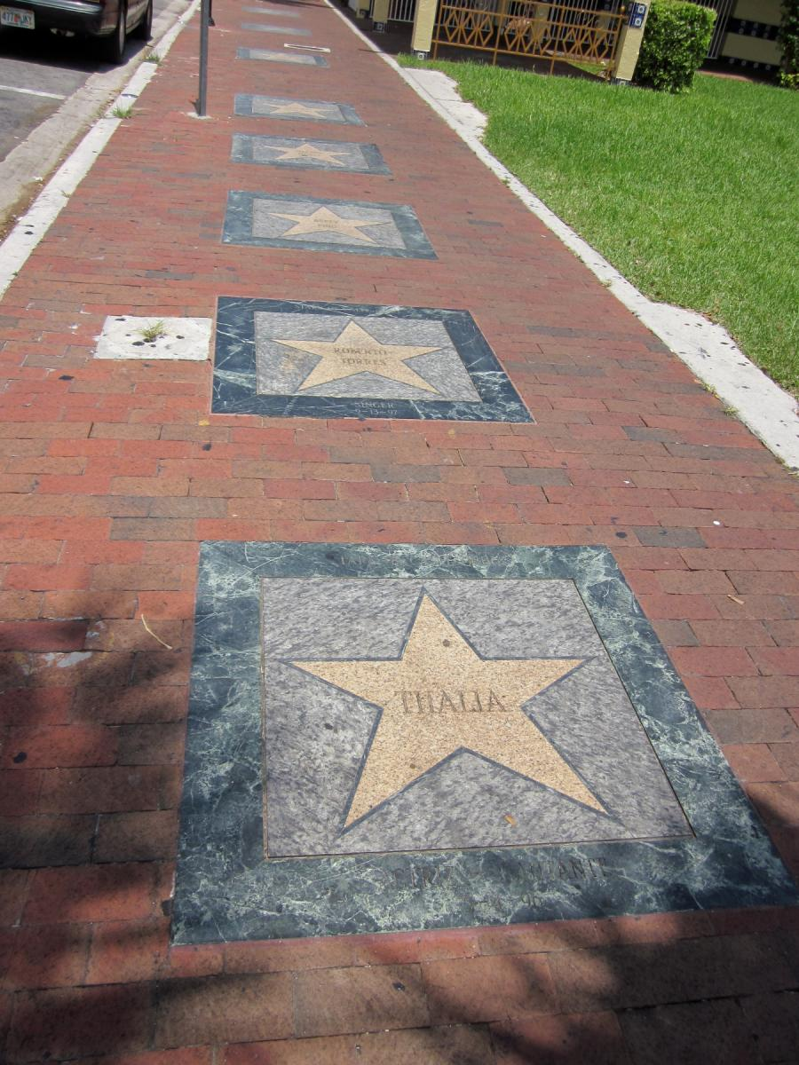 Calle Ocho's Latin Walk of Fame in Little Havana