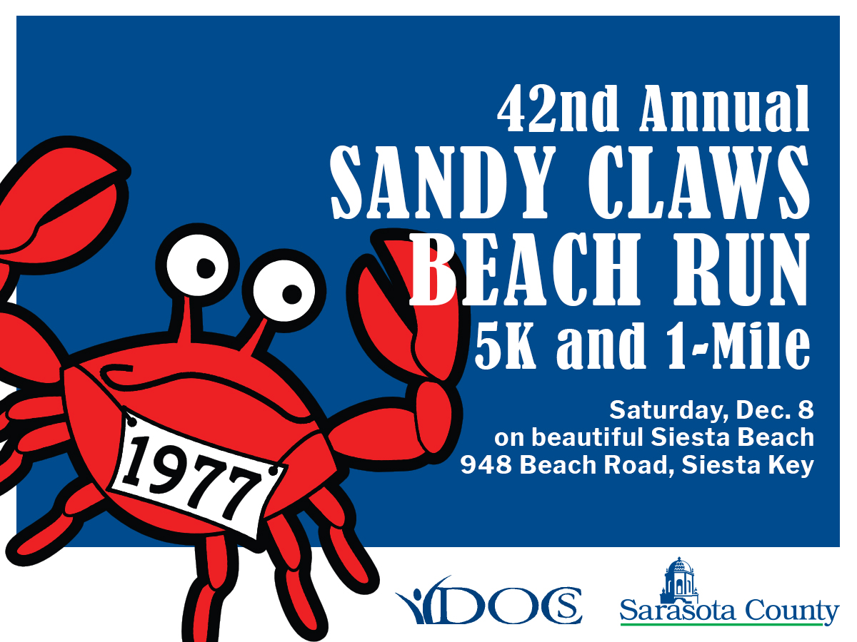 Siesta Beach Park Hosts the Sandy Claws Beach Run | Holiday Spirit Begins Early for Runners