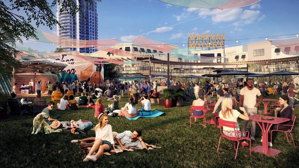 Tampa's Newest Hot Spot Sparkman Wharf is Open For Business!
